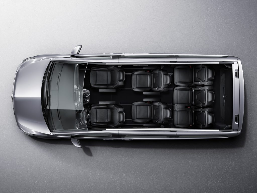 Mercedes benz Minivan clase V interior
